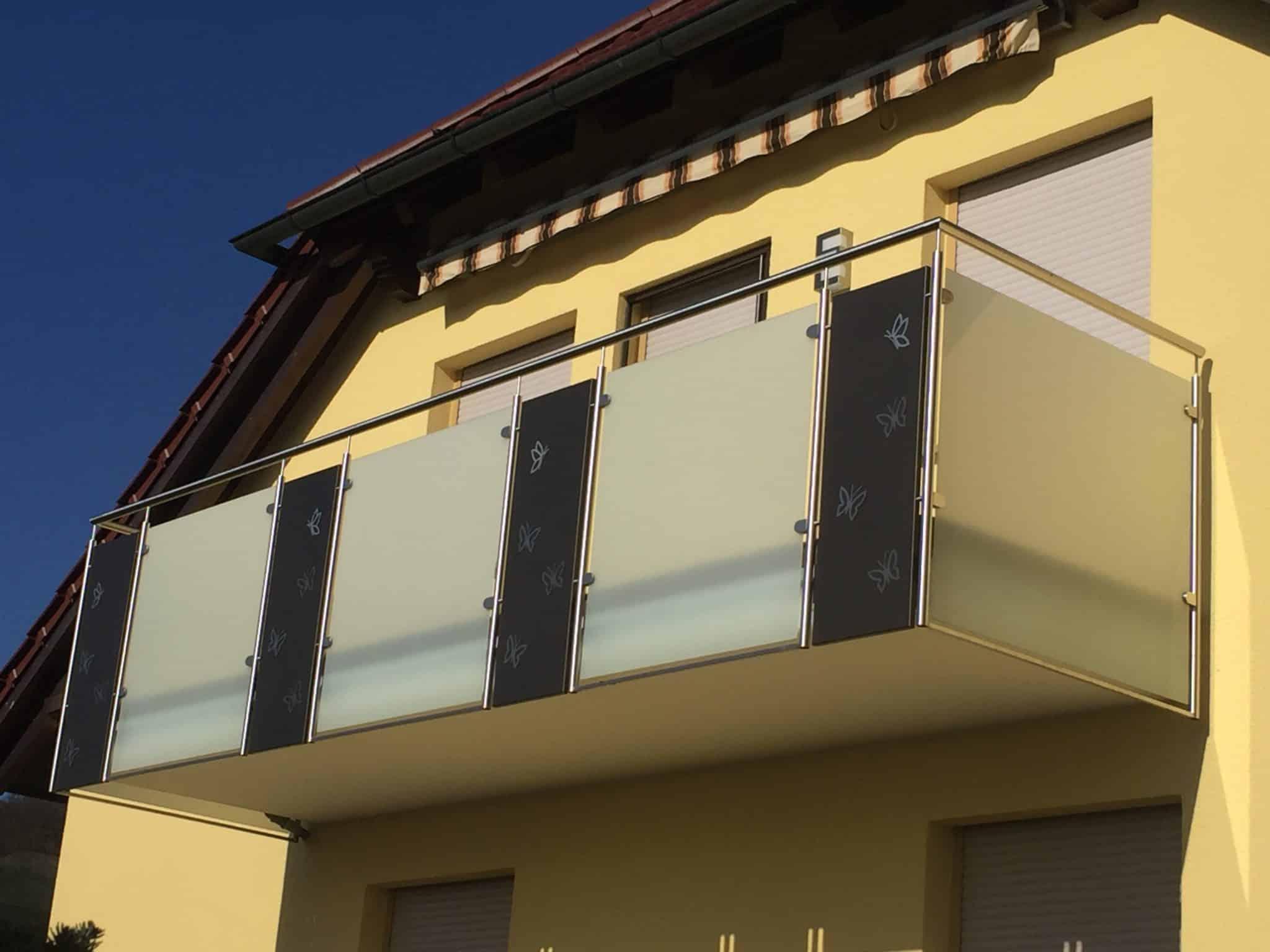 Montierter Geländer Bausatz